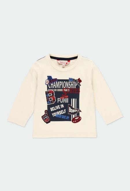 """Camiseta malha flame """"letras"""" do bébé_1"""