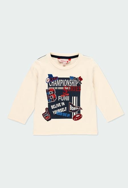 "Camiseta punto flamé ""letras"" de bebé_1"