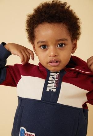Sweatshirt felpa com capuz para o bebé menino_1