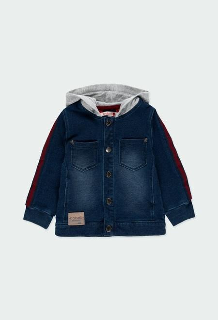 Veste en molleton jean pour bébé garçon_1