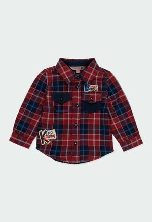 Camisa manga larga cuadros de bebé_1