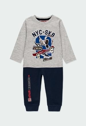 """Pack en tricot bi matiere """"new york """" pour bébé_1"""