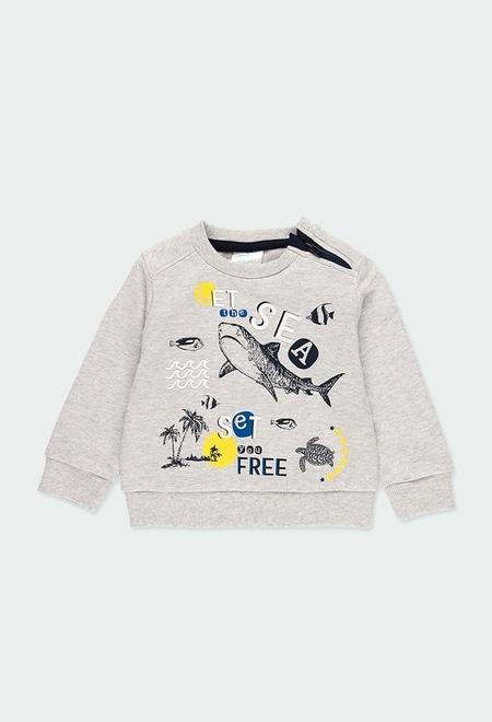 """Fleece sweatshirt """"sharks"""" for baby boy_1"""
