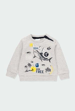 """Sweat en molleton """"requins"""" pour bébé garçon_1"""