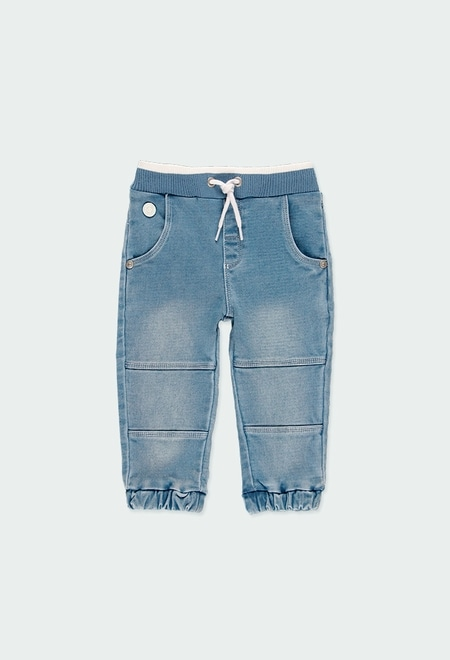 Jeans maille pour bébé garçon_1