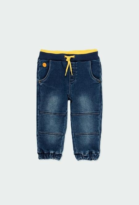 Pantalón denim punto de bebé niño_1