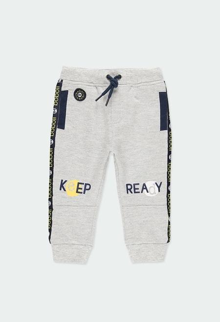 "Fleece trousers ""bbl 1984"" for baby boy_1"