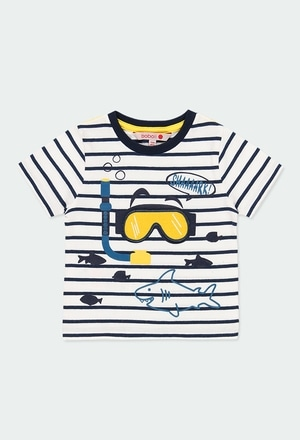"Camiseta malha ""tubarões"" para o bebé menino_1"