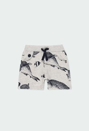 "Fleece bermuda shorts ""sharks"" for baby boy_1"