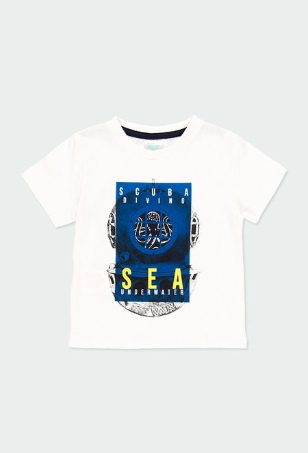 "Knit t-Shirt ""sea world"" for baby boy_1"