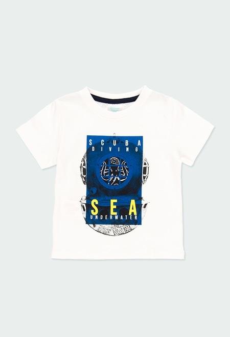 """T-Shirt gestrickt """"sea world"""" für baby junge_1"""