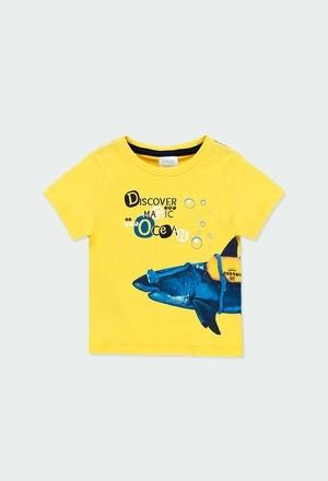 """Camiseta punto """"tiburón"""" de bebé niño_1"""