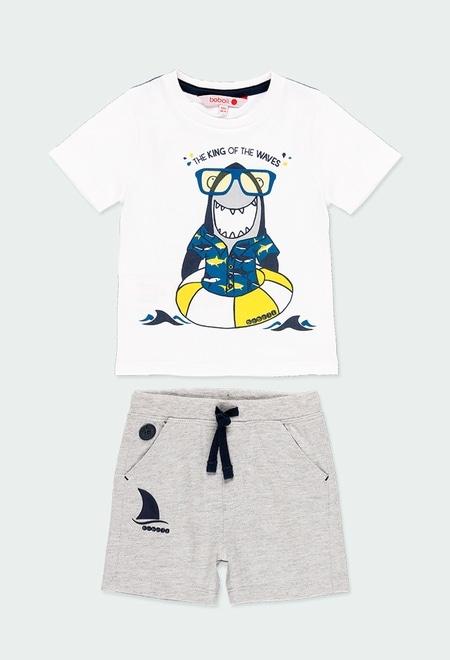 """Pack punto """"tiburón"""" de bebé niño_1"""