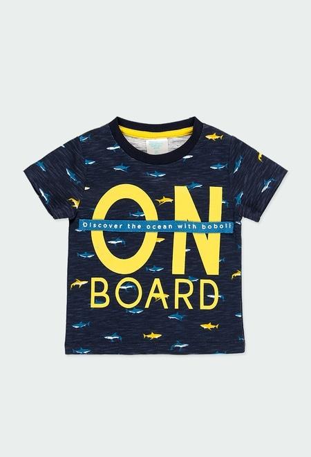 """T-Shirt gestrickt """"haie"""" für baby_1"""
