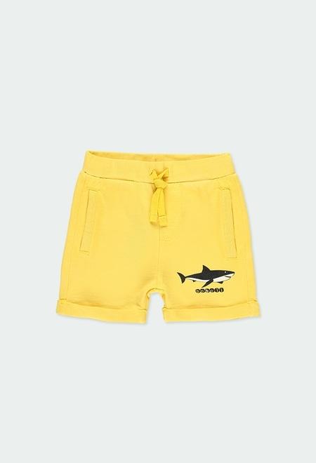 Fleece bermuda shorts flame for baby boy_1