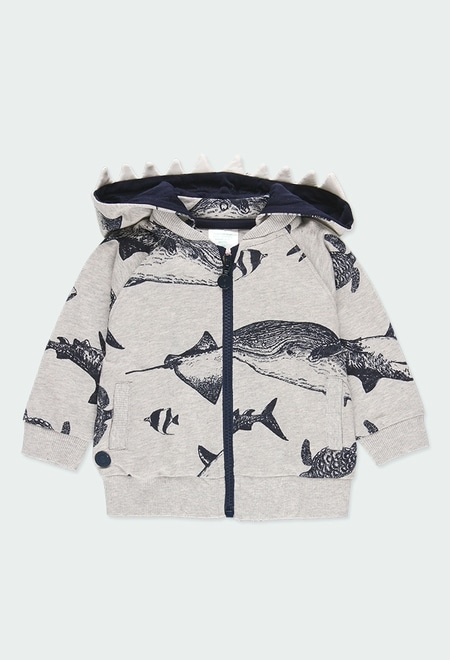 "Fleece jacket ""sharks"" for baby boy_1"
