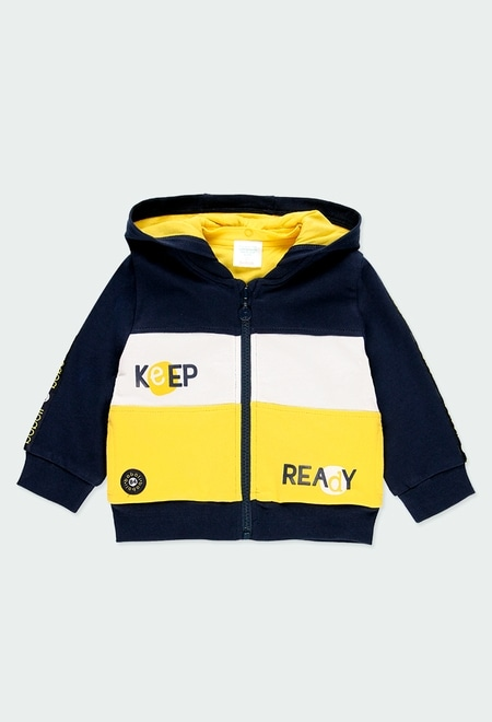Fleece jacket hooded for baby boy_1
