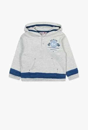 Sweat-Shirt plüsch mit tasche für baby junge_1