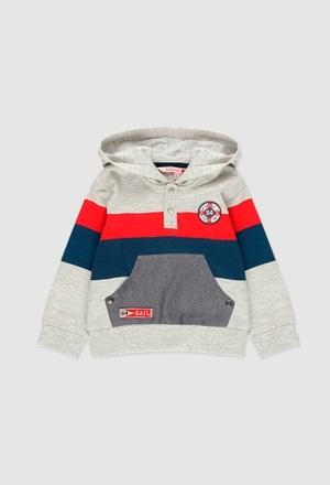 Fleece with pockets sweatshirt for baby boy_1