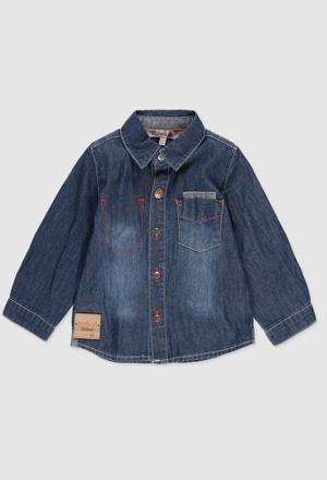 Camisa denim manga larga de bebé niño_1