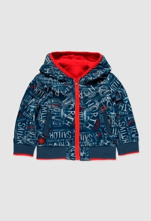 Reversible technical fabric  jacket for baby_1