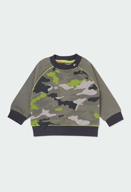 Sweat en molleton camouflage pour bébé garçon_1