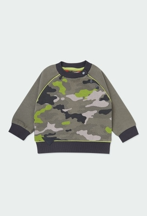 Fleece sweatshirt camo for baby boy_1
