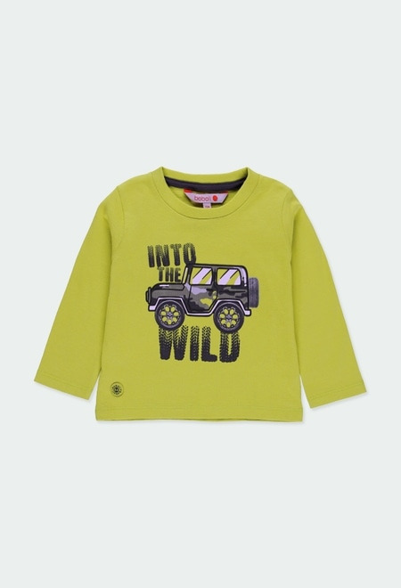 """Camiseta malha """"safari"""" para o bebé menino_1"""
