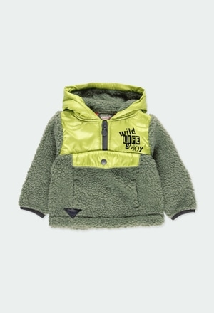 Sweatshirt fur combined for baby boy_1
