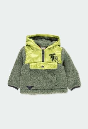 Sweatshirt pelo combinado para o bebé menino_1