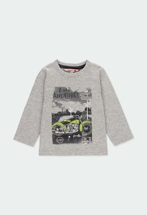 """Knit t-Shirt """"motorcycle"""" for baby boy_1"""