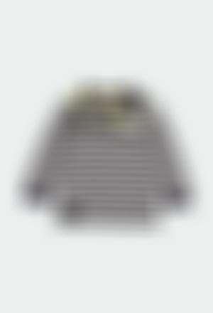 Camiseta punto listada de bebé niño