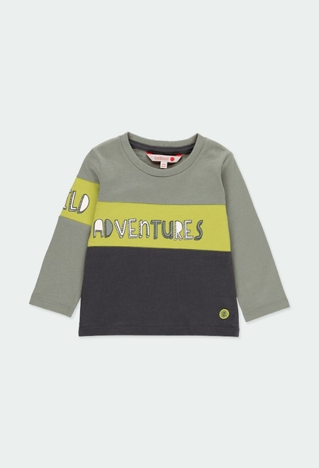 """Knit t-Shirt """"adventure"""" for baby boy_1"""