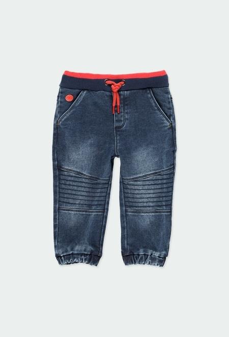 Jeans maille pour bébé_1