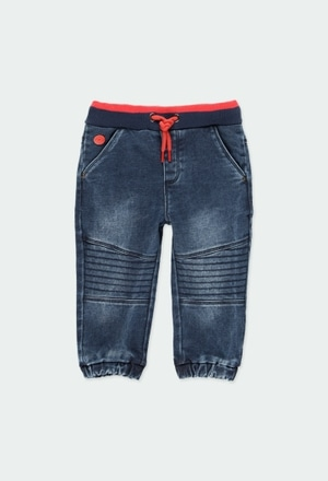 Denim trousers knit for baby_1