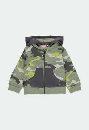 Fleece jacket camo for baby boy_1