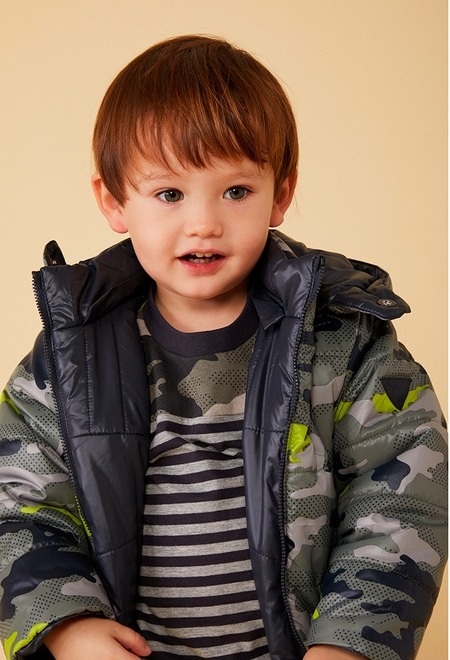 Reversible parka camo for baby boy_1
