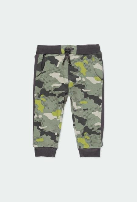 Pantalon en molleton camouflage pour bébé garçon_1