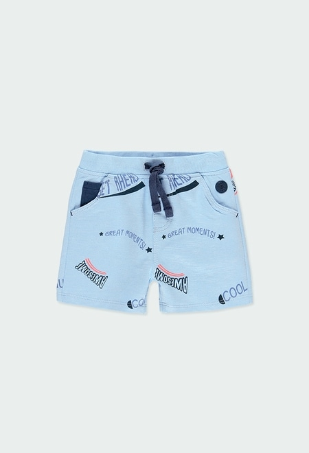 "Fleece bermuda shorts ""letters"" for baby boy_1"