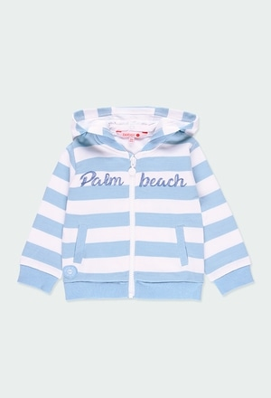 Fleece jacket striped for baby boy_1