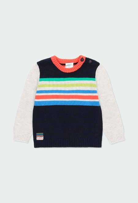 Jersey tricotosa listado de bebé niño_1