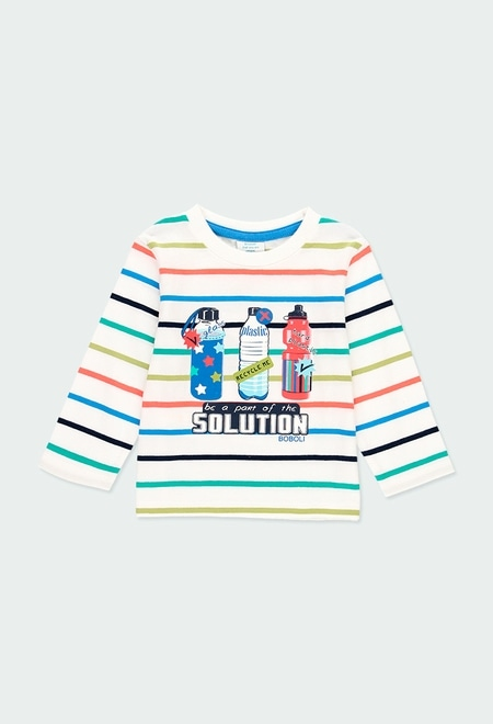 Knit t-Shirt striped for baby boy_1