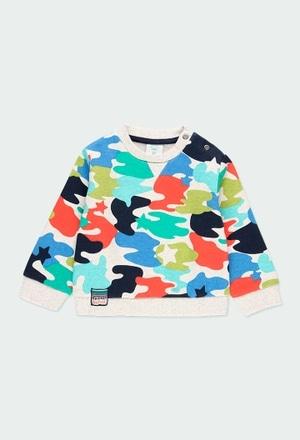 Fleece sweatshirt camo for baby boy_1