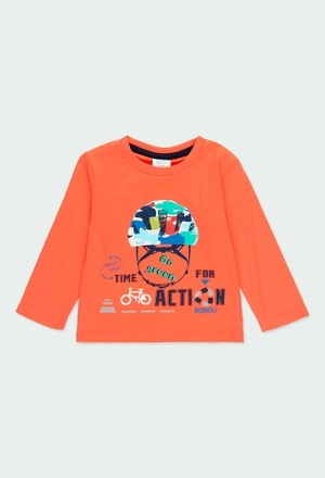 """Knit t-Shirt """"bicycle"""" for baby boy_1"""
