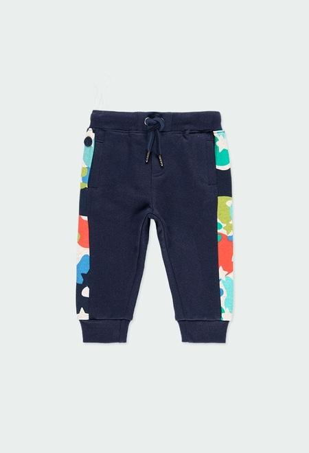 Pantalon en molleton avec bandes pour bébé garçon_1