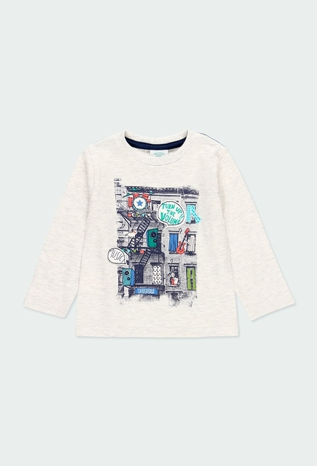 """Knit t-Shirt """"bbl music"""" for baby boy_1"""