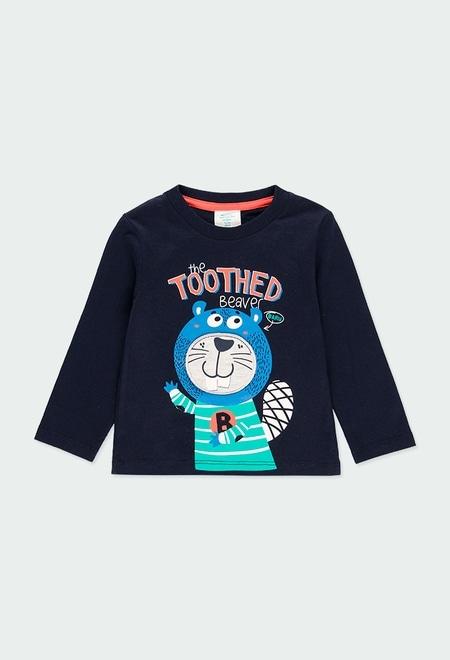Camiseta punto estampada de bebé niño_1
