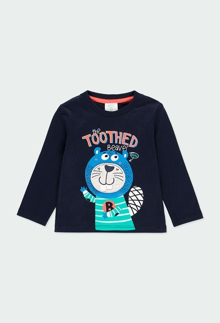Knit t-Shirt printed for baby boy_1