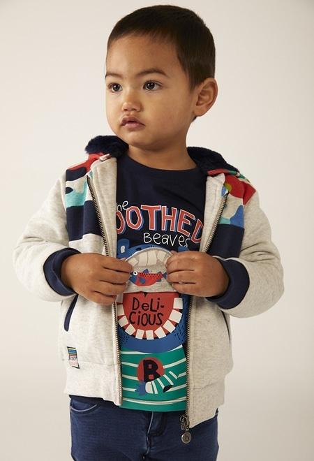Fleece jacket camo for baby boy_1