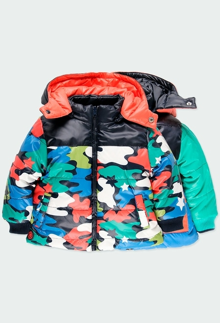 Technical fabric parka for baby_1